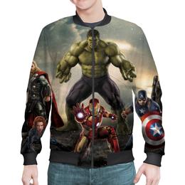 """Бомбер мужской """"Мстители (Avengers)"""" - железный человек, капитан америка, халк, черная вдова"""
