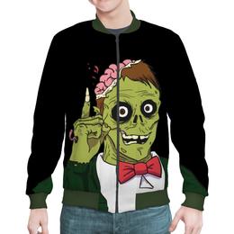 """Бомбер мужской """"Зомби хеллоуина"""" - хэллоуин, зомби, ужас, монстр"""