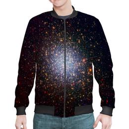 "Бомбер ""Вспышки звезд"" - звезды, космос, небо, галактика, вспышки"