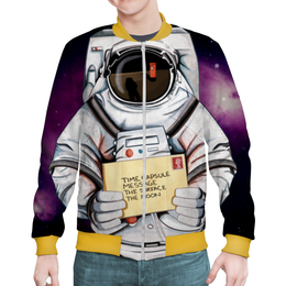 """Бомбер мужской """"Покоряя космос"""" - звезды, космос, вселенная, космический, thespaceway"""