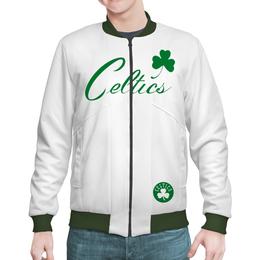 "Бомбер ""Бостон Селтикс white style"" - баскетбол, nba, boston, celtics, нба"