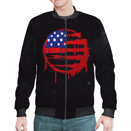 "Бомбер ""American Flag (Американский флаг)"" - америка, usa, флаг, сша, flag"