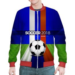 """Бомбер """"World Cup 2018 (soccer ball)"""" - футбол, мяч, символика, 2018, чемпионат"""