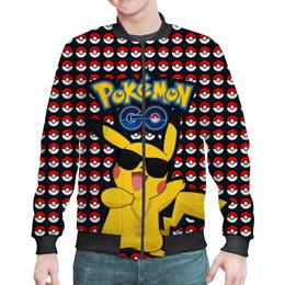 "Бомбер ""Pokemon GO"" - игра, покемон, пикачу, доллар, pikachu"