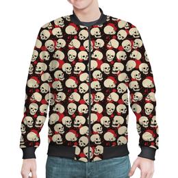 """Бомбер """"Крупные черепа"""" - skull, череп, арт, черепа, skulls"""