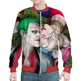 "Бомбер ""The Joker&Harley Quinn Design"" - джокер, харли квинн, dc комиксы, отряд самоубийц, безумная любовь"