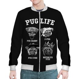 """Бомбер """"Pug life """" - собачки"""