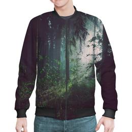 "Бомбер ""Природа леса"" - лес, деревья, природа, пейзаж, трава"