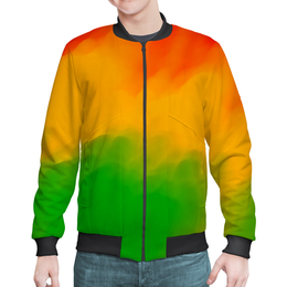 """Бомбер """"Радужный"""" - радуга, рисунок, картина, краски, цветные краски"""