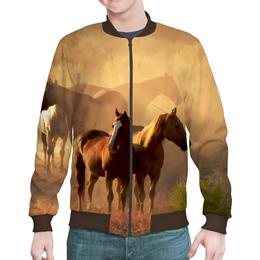 """Бомбер """"Лошади"""" - животные, лошадь"""