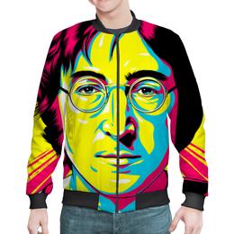 """Бомбер """"Джон Леннон"""" - поп арт, рисунок, джон леннон"""