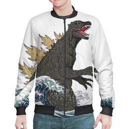 "Бомбер мужской ""Годзилла"" - динозавр, годзилла, годзила"