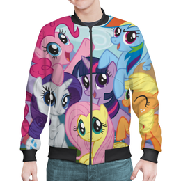 "Бомбер мужской ""My Little Pony"" - rainbow dash, my little pony, applejack, friendship is magic, twilight sparkle"