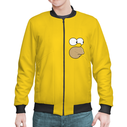 """Бомбер мужской """"Гомер и пончик"""" - simpsons, симпсоны, лиза"""