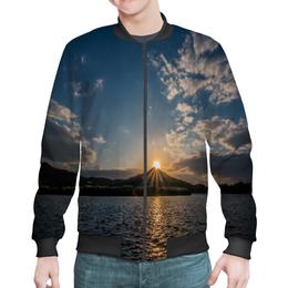 """Бомбер """"Закат """" - солнце, море, природа, закат, горы"""