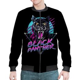 "Бомбер ""Black Panther"" - оскал, черная пантера"