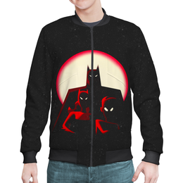 """Бомбер мужской """"Бэтмен"""" - batman, бэтмен, супергерой, летучая мышь, брюс уэйн"""