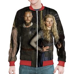 """Бомбер мужской """"Vikings"""" - история, викинги, vikings, рагнар"""