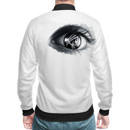 """Бомбер """"я слежу за тобой"""" - глаз, дизайн, подарок любимому"""