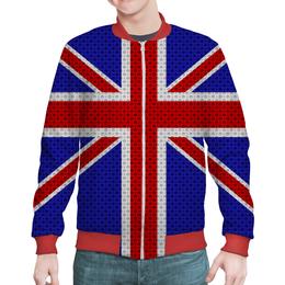 "Бомбер ""British Design"" - англия, абстракция, флаг, британия, великобритания"
