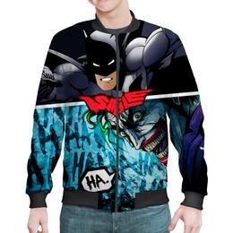 "Бомбер мужской ""SMILE (Batman vs. Joker)"" - joker, batman, джокер, бэтмен, mortal kombat"