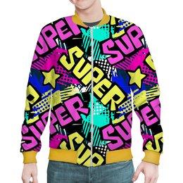 "Бомбер ""Super "" - юмор, комиксы"