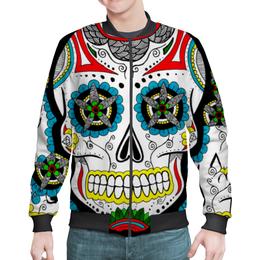 """Бомбер мужской """"Мексиканские черепа"""" - череп, скелет, мексика"""