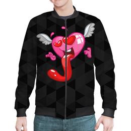 """Бомбер """"Сердце"""" - сердце, любовь, валентинка"""
