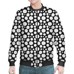 "Бомбер ""Белый горошек"" - узор, стиль, орнамент, абстракция, модерн"