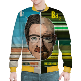 "Бомбер ""Breaking Bad - Heisenberg"" - сериал, наркотики, во все тяжкие, хайзенберг, мет"
