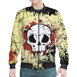 """Бомбер мужской """"Grunge Skull"""" - skull, череп, гранж, монстр, байкер"""
