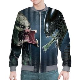 "Бомбер ""Alien Vs Predator Design NEW (1)"" - хищник, фантастика, чужой, монстры, пришельцы"