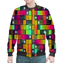 """Бомбер """"Графика"""" - цветные, квадраты, круги, узоры, графика"""