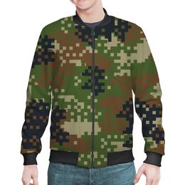 """Бомбер """"Пиксельный Камуфляж"""" - 23 февраля, армия, камуфляж, пиксели"""