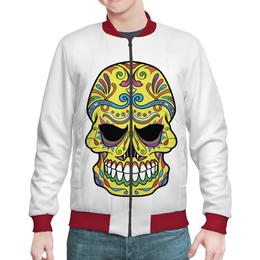"Бомбер ""Skull"" - череп, рисунок, абстракция"