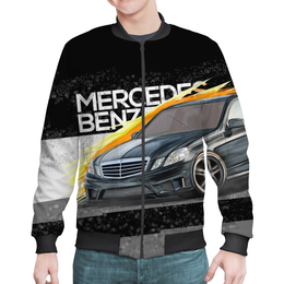 "Бомбер мужской ""Mercedes benz E-class"" - авто, автомобиль, mercedes, amg, mb"