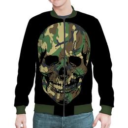 "Бомбер ""Skull - 11"" - skull, череп, рисунок, день рождения, rock and roll"