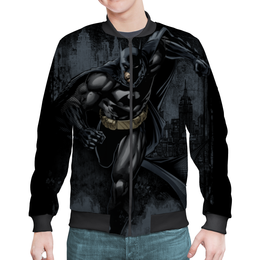 "Бомбер мужской ""Бэтмен"" - комиксы, джокер, супергерои, бэтмен, dc комиксы"