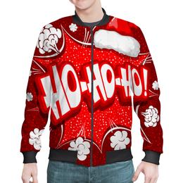 "Бомбер ""Ho Ho Ho"" - рождество, новый год, зима, красный, санта"