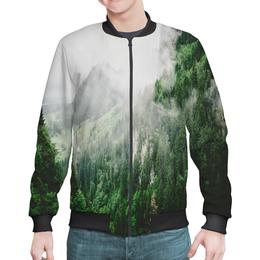 """Бомбер """"Туманные горы"""" - горы, скалы, природа, лес, туман"""