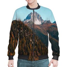 """Бомбер """"Скалы и лес"""" - лес, небо, природа, горы, скалы"""