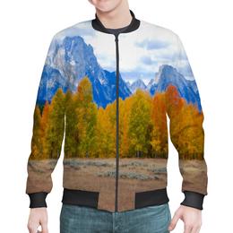 """Бомбер """"Деревья в горах"""" - горы, пейзаж, природа, лес, осень"""