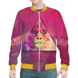 """Бомбер мужской """"""""ANIMALSWAG II"""" collection: Lion"""" - лев, lion, swag, animals, hipster"""