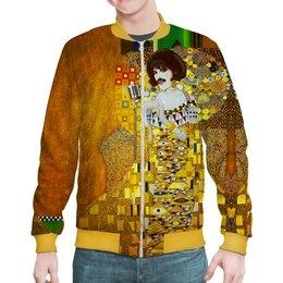 "Бомбер ""Freddie Mercury (Gustav Klimt)"" - мужу, искусство, фредди меркьюри, густав климт, меломанам"
