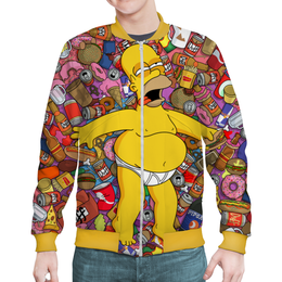 "Бомбер ""Гомер Симпсон"" - юмор, simpsons, симпсоны, мульт, фэн-арт"