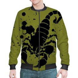 """Бомбер """"Скорпион (24.10-21.11)"""" - крутой, оригинальный, стильный, скорпион, биология"""