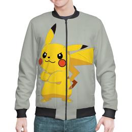 "Бомбер мужской ""PoKeMon Pikachu"" - игра, покемон пикачу, pokemon go, pokemon pikachu"