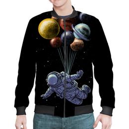 "Бомбер мужской ""Космонавт"" - космос, планеты, космонавт"