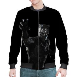 """Бомбер """"Черная пантера"""" - комиксы, марвел, черная пантера, black panther"""