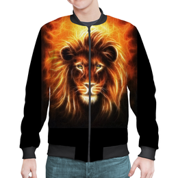"""Бомбер """"Огненный лев"""" - лев, огонь, животное"""